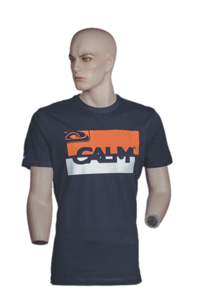 "T-Shirt ""Kursiv Block"" - Navy"