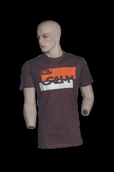 "T-Shirt ""Kursiv Block"" - Brown"